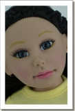 2015 - BASIC DOLLS - LEEANN - BLACK HAIR - BLUE INSERTED GLASS EYES