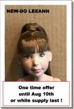 2017 - BASIC DOLLS - LEEANN - NEW DO - BROWN WITH BANGS - BROWN EYES